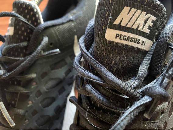 Tenis Nike Pegasus 31 Negros Excelentes Condiciones 28.5 Mx