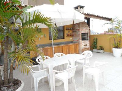 Cobertura Com 3 Dorms, Enseada, Guarujá - R$ 450 Mil, Cod: 334 - A334