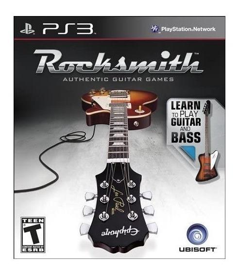 Rocksmith Authentic Guitar Games (mídia Física) - Ps3
