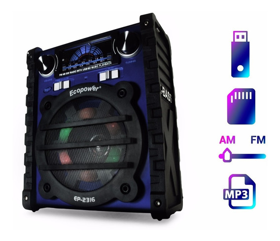 Radio Mp3 Portatil Sd Usb Am/fm