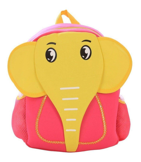 Mochila Infantil Escolar Animais-elefantinho