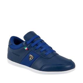 Tenis Casual Azul Con Agujeta Lamborghini 7784 Urb 821856