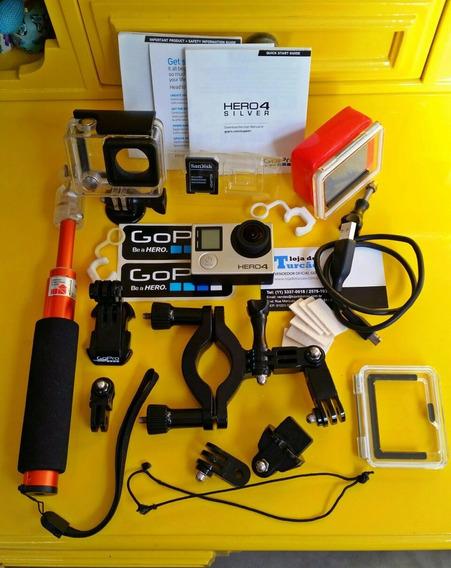 Gopro Hero 4 Silver Com Vários Acessórios - Camera Digital -