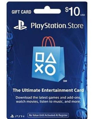 Tarjetas Prepago Playstation Network Card Usa Psn $10