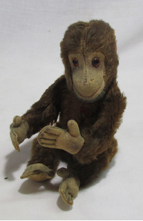 Antiguo Mono De Peluche,ojos Vidrio,posible Schuco ,arv #l
