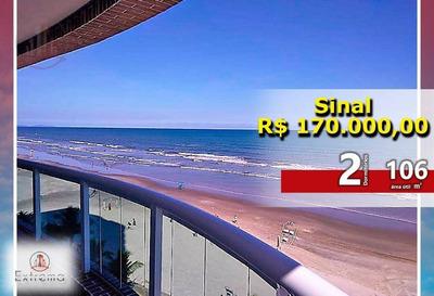 Apartamento 3 Dormitórios Frente Para O Mar - Ap0828