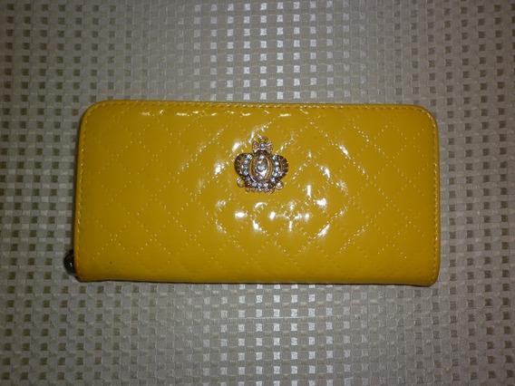 Monedero Patente Amarillo 21cmx11cm