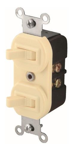 Interruptor De Palanca Doble Horizontal Fulgore Fu0129