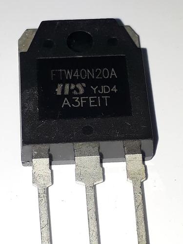 Transistor Ftw40n20 Original ,envio Por Carta Registrada