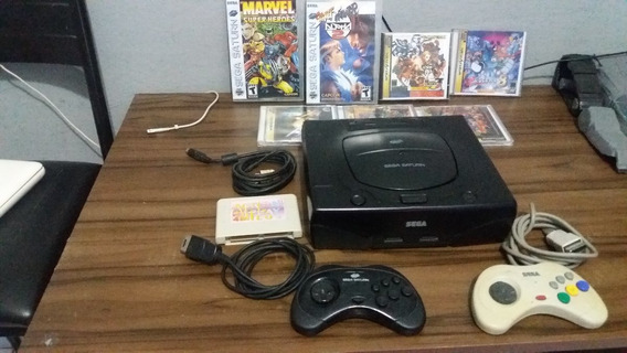 Sega Saturn Completao Com Pseudo Saturn+ Acessorios