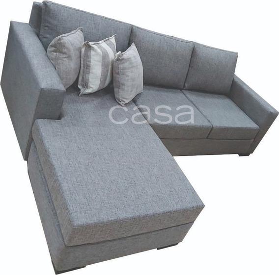 Sofa Esquinero 240 Cm Por 190 Cm Tapizado Lino