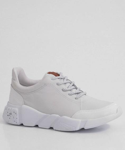 Tênis Feminino Chunky Sneaker Recorte Verniz Bottero