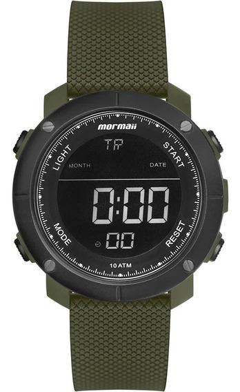 Relógio Masculino Verde Militar Digital Mormaii +brinde