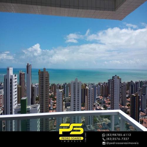 Apartamento Com 3 Dormitórios À Venda, 72 M² Por R$ 390.000 - Manaíra - João Pessoa/pb - Ap4064