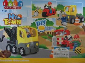 Juego Juguete Set Camion Grua Moto Lego Niños Infantil