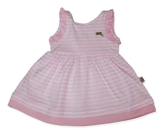 Vestido Rosa Listrado Vaninha Baby