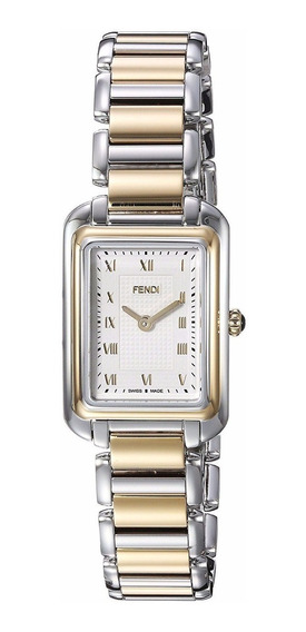Reloj Fendi Classic Rect Acero Inox 2 Tonos Mujer F701124000