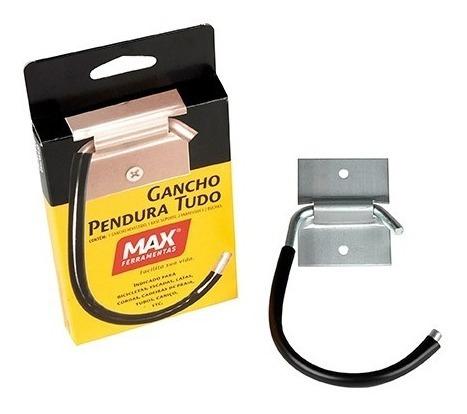 Imagem 1 de 5 de Gancho Multiuso Aço Zincado P/ Até 30kg Max - 1 Peça