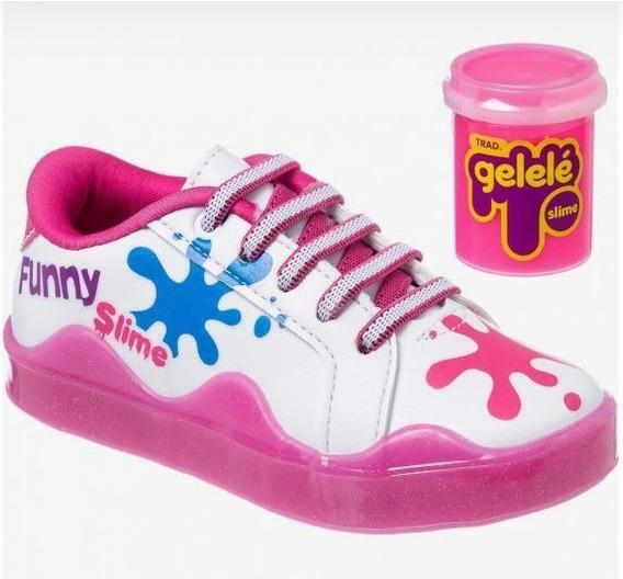 Tênis Infantil Feminino Kidy Slime Light