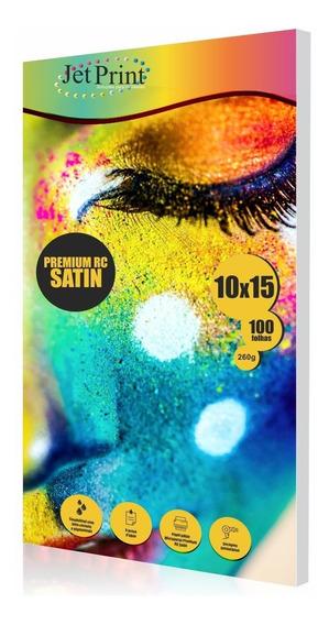 Papel Fotog. Jet Print 10x15 260g/m² 300 Fls Satin