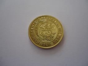 Moeda Bronze 5 Soles Oro Ouro 1980 República Peru