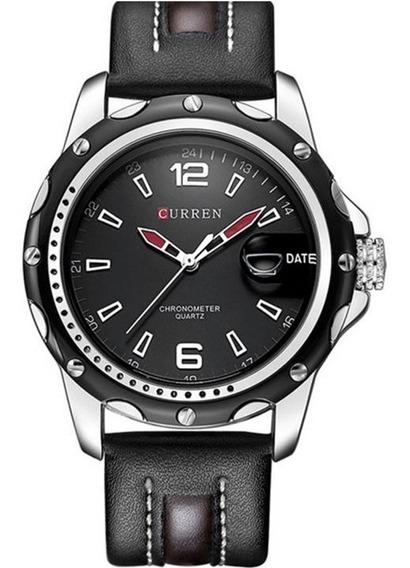 Relógio Masculino Curren M8104 Original Pulseira De Couro Com Calendário Frete Grátis