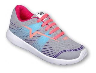 Tenis Deportivo Marca Volt Textil Gris Coral 5300