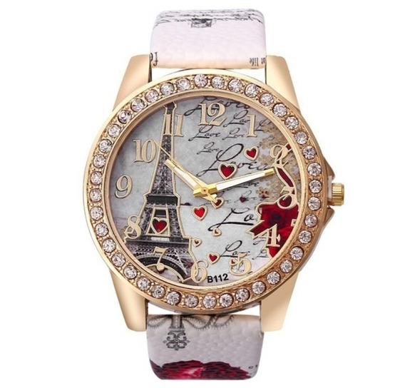 Relógio Feminino Torre Eiffel Quartz Watch