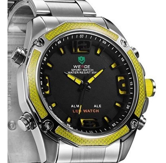 Relógio Masculino Esportivo Barato Resistente Wr Original