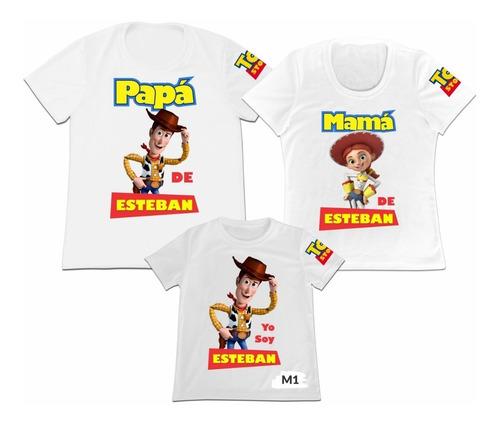 Camiseta 6 Adultos 1 Niño Mama Papa Hijo Toy Story