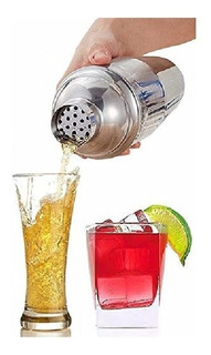 Coqueteleira Inox 500 Ml 3 Peças Drinks Caipirinha Bar Reforçada