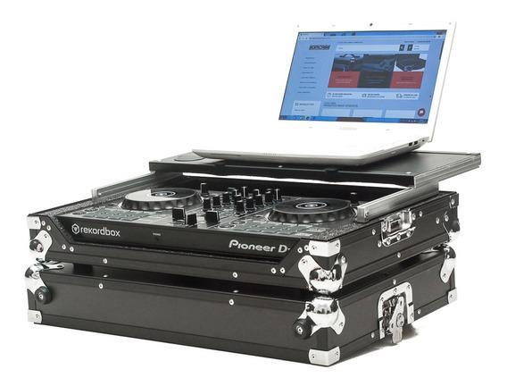 Case Controladora Pioneer Ddj 400 C/ Plataforma Black/chromo