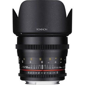 Lente Rokinon 50mm T1.5 Cine Ds Lens Para Canon Ef