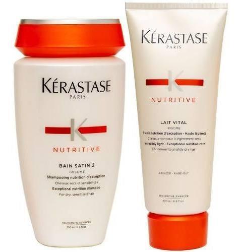Kerastase Nutritive Kit Ch. Shampoo Satin 2 + Enj Lait Vital