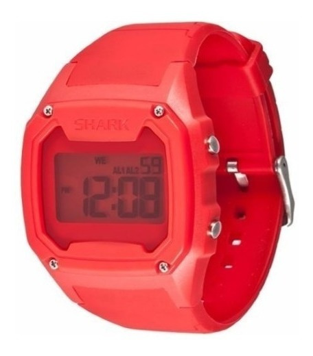 Relógio Killer Shark Silicon Red Vermelho Freestyle Imported