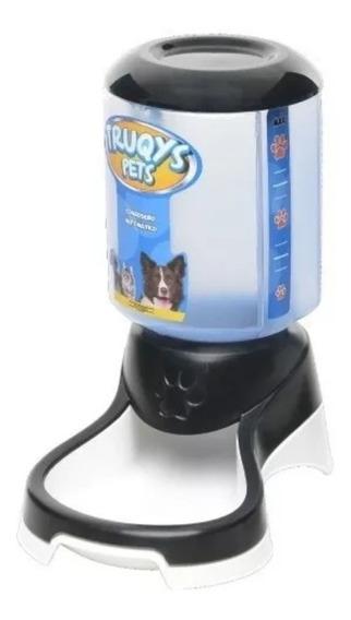 Comedouro Automático Para Cães E Gatos Truqys - Preto