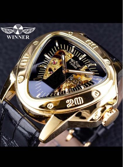 Relógio Winner Triângulo Luxo Automático