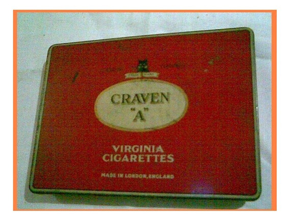 Cajita Cigarros Graven A Virginia Cigarettes Cork Tipped