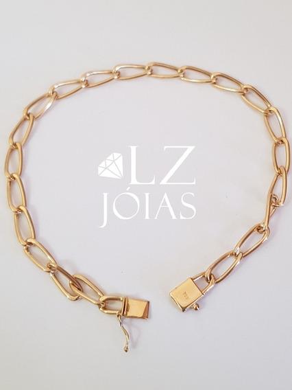 Pulseira Elos Iguais Cartier Longa Masculina Ouro 18k 750