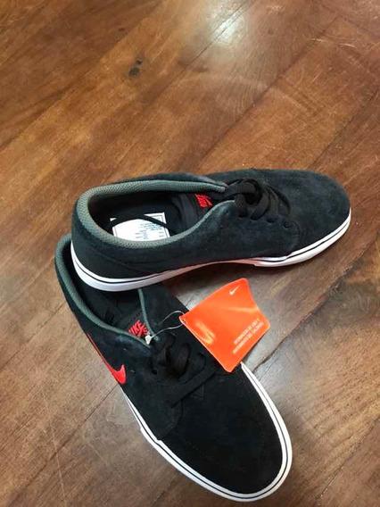Zapatillas Nike Satire Gs 4.5y Negro Con Rojo Nuevas Orig