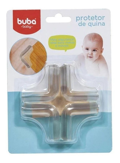 Protetor De Quina Com 4 Unidades - Buba Baby 14483