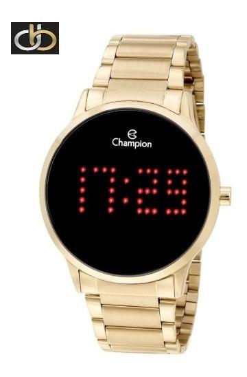 Relógio Champion Feminino Digital Led Ch40035v Dourado