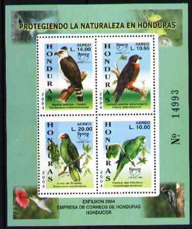 Honduras 2004 - Aves - Upaep - Hojita Bloque