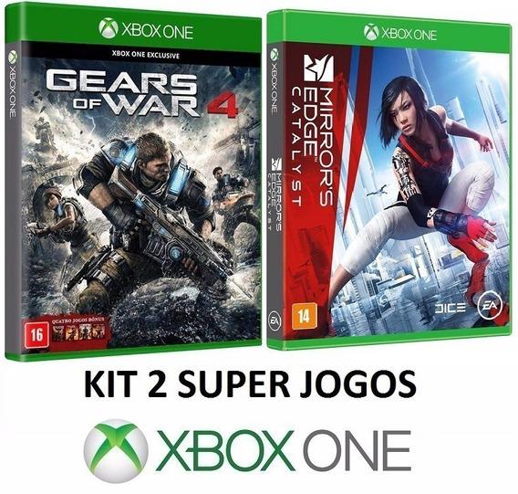 Gears Of War 4 + Mirrors Edge Catalyst Midia Fisica Xbox One