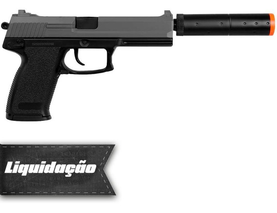 Pistola Airsoft Hk Usp M23 Silenciador Mais Barato Do Brasil