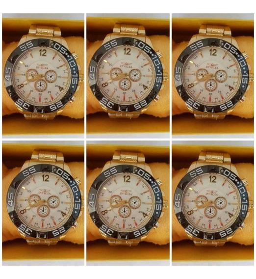 Kit Barato 10 Relógios Luxo Masculino Atacado Revenda Top