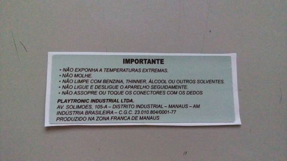 Label Traseira Nacional Para Snes Super Nintendo