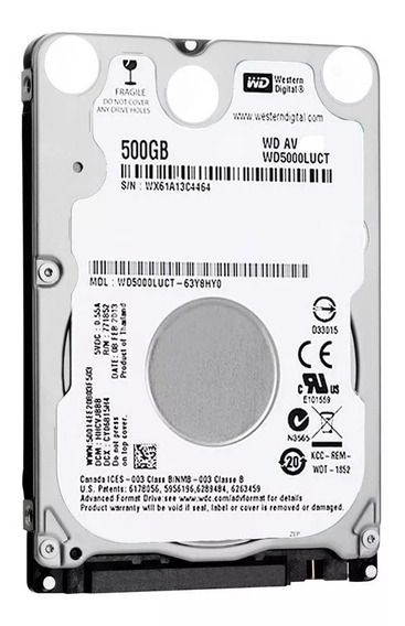 Hd 500gb Notebook Western Digital Slim