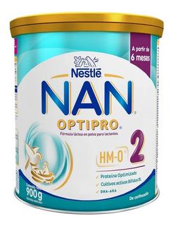 Leche Nan Optipro 2 Lata X 900gr X 6 Unidades