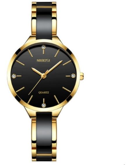 Relógio Nibosi Feminino Luxo Original Pronta Entrega Ni-2330
